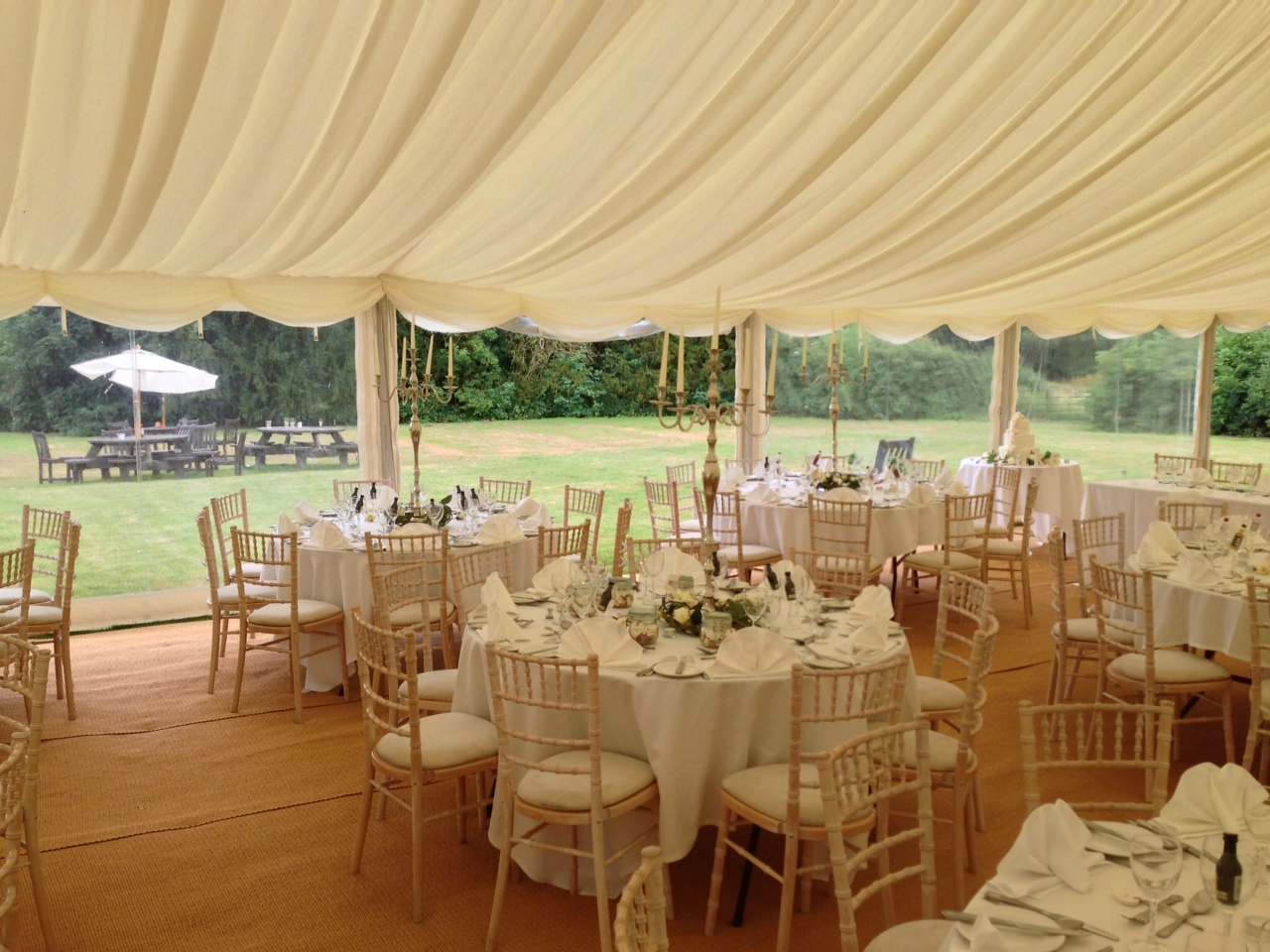 clearspan tent with chair hire